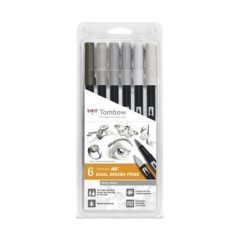 TOMBOW ABT Dual Brush 6P-4 Gråfarger (6)