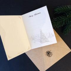Julekort m/konvolutt doble Juletre