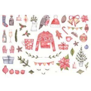 Håndmalte klistremerker Jul