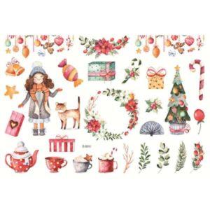 Håndmalte klistremerker Julepynt