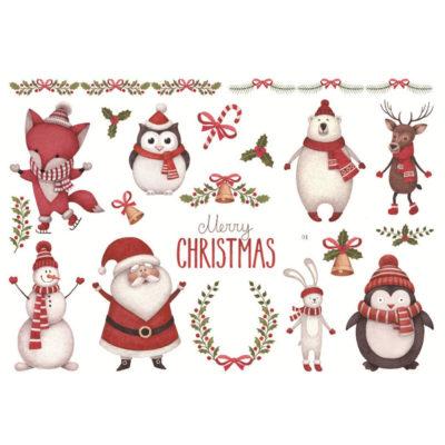 Håndmalte klistremerker Juledyr
