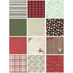 Scrapbook julesett – Dekorpapir og etiketter