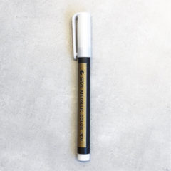 STA Metallic penn Hvit