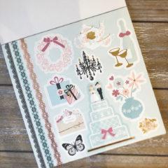 Scrapbook bryllupsett – Dekorpapir og etiketter