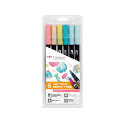 Tombow ABT Dual Brush Candy farger 6-pakk