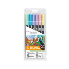 Tombow ABT Dual Brush Pastell farger 6-pakk