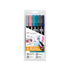 Tombow ABT Dual Brush Vintage farger 6-pakk