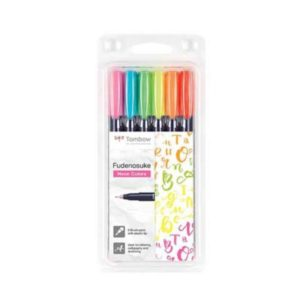 Tombow brush Fudenosuke hard NEON