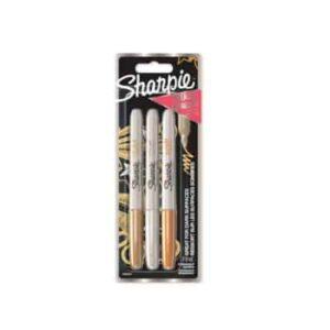 Sharpie Metallic Gull/Sølv/Bronse 1,4mm 3-pakk