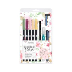 Tombow ABT Dual Brush sett Floral