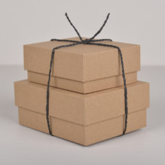Gaveeske i KRAFT 13×10,5×5,5 cm