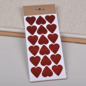 Klistremerke hjerter · Rød
