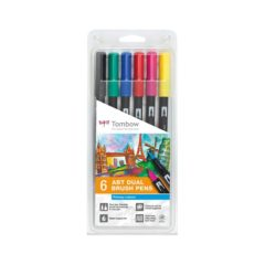 Tombow ABT Dual Brush 6P-1 Basic farger (6)