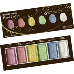 ZIG Gansai Tambi Akvarellmaling 6-farger Perle